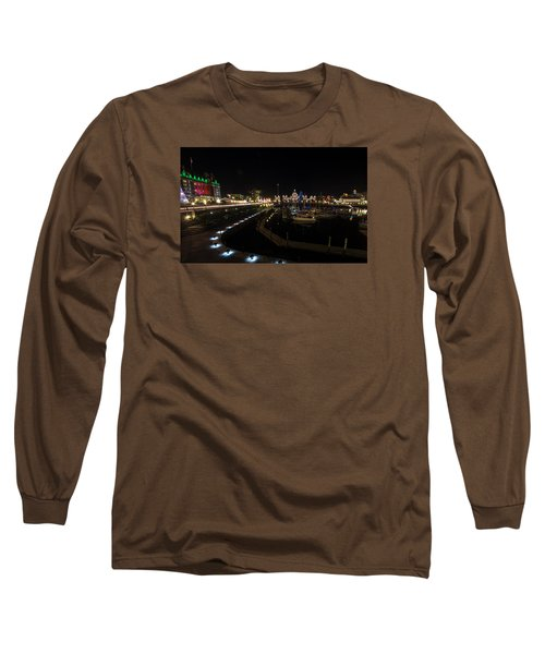 Inner Harbour Of Victoria Bc Long Sleeve T-Shirt by Marilyn Wilson
