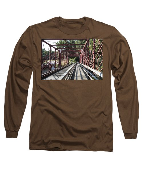 Inside The Bollman Truss Bridge At Savage Maryland Long Sleeve T-Shirt