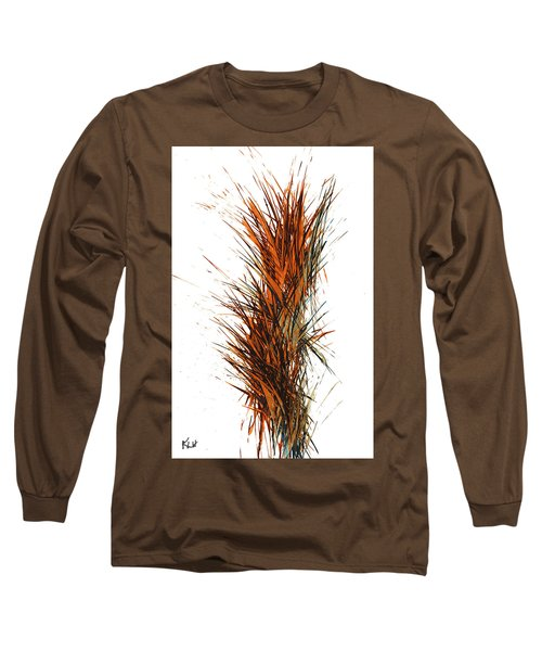 Long Sleeve T-Shirt featuring the painting Intensive Abstract Painting 1030.050512 by Kris Haas