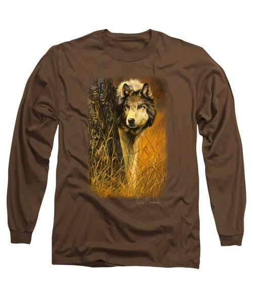 Interested Long Sleeve T-Shirt by Lucie Bilodeau