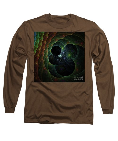 Long Sleeve T-Shirt featuring the digital art Into Space And Time by Deborah Benoit