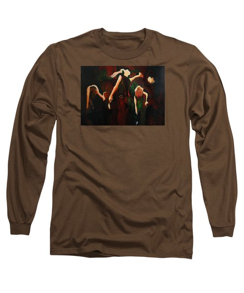Long Sleeve T-Shirt featuring the painting Intricate Moves by Georg Douglas