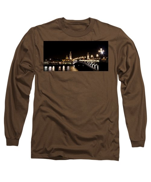 Long Sleeve T-Shirt featuring the photograph Invalides At Night 1 by Andrew Fare