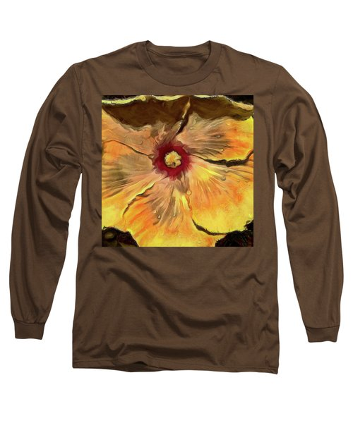 Long Sleeve T-Shirt featuring the mixed media Isabella by Trish Tritz