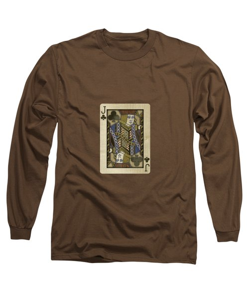 Jack Of Clubs In Wood Long Sleeve T-Shirt