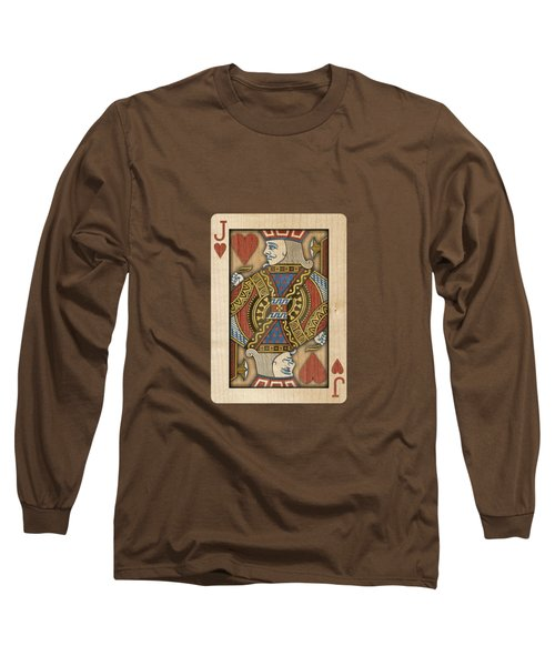 Jack Of Hearts In Wood Long Sleeve T-Shirt