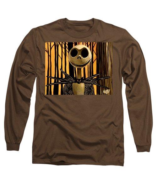 Jack Skelington Long Sleeve T-Shirt by Tom Carlton