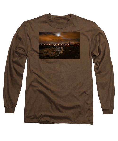 James River At Night Long Sleeve T-Shirt