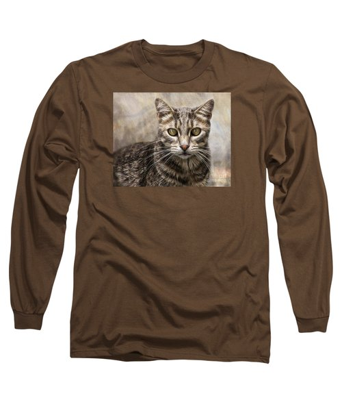 Long Sleeve T-Shirt featuring the digital art Janie's Kitty by Rhonda Strickland