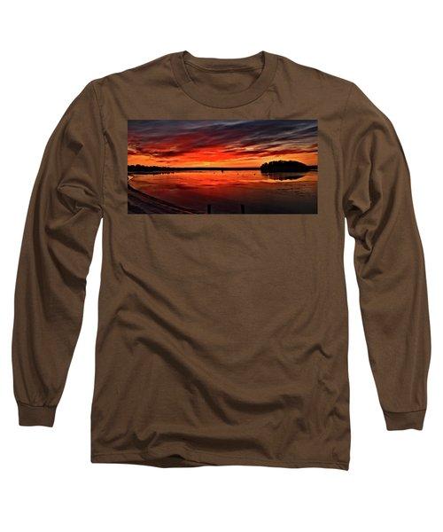 January Sunrise Onset Pier Long Sleeve T-Shirt