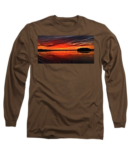 January Sunrise Onset Pier Long Sleeve T-Shirt