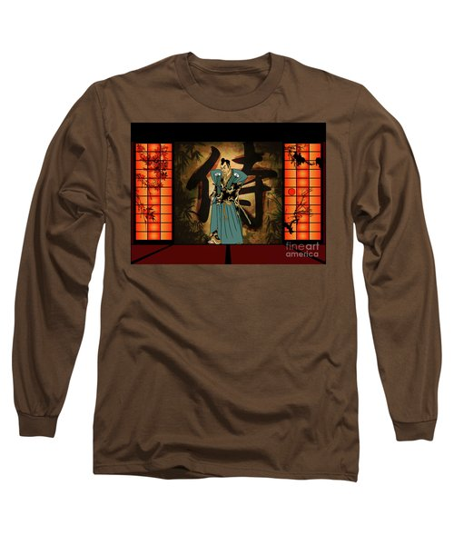 Long Sleeve T-Shirt featuring the drawing Japanese Style by Andrzej Szczerski