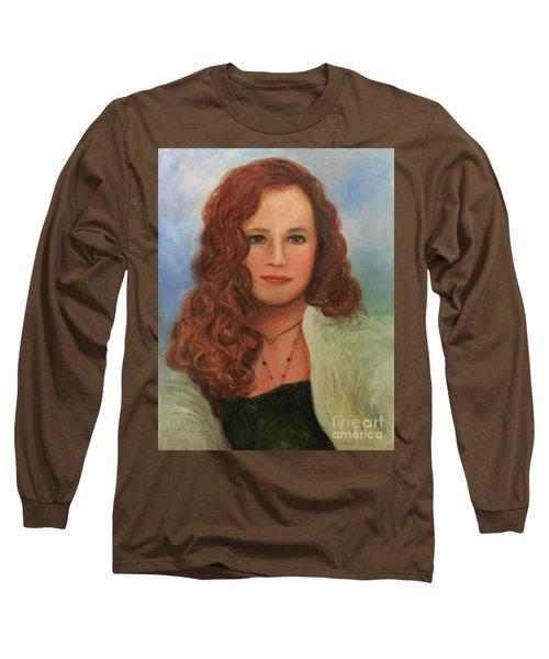 Long Sleeve T-Shirt featuring the painting Jennifer by Randol Burns