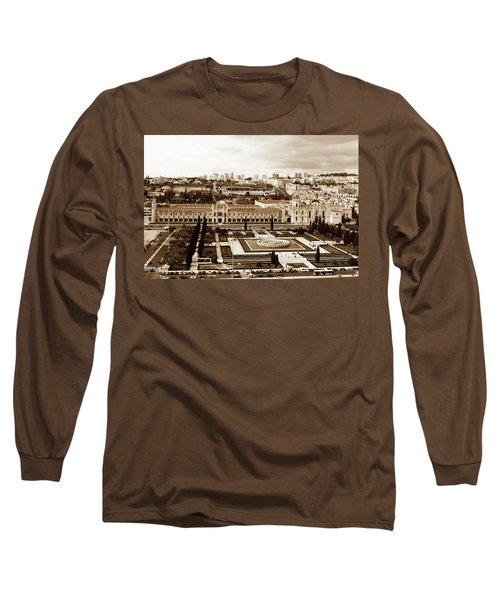 Jeronimos Monastery In Sepia Long Sleeve T-Shirt
