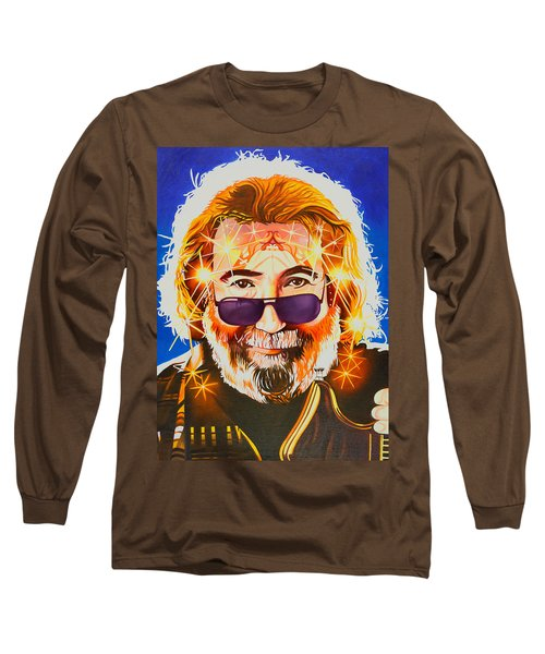 Long Sleeve T-Shirt featuring the painting Jerry Garcia-dark Star by Joshua Morton