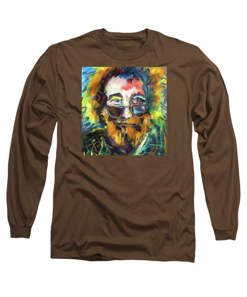 Jerry Garcia Long Sleeve T-Shirt by Les Leffingwell