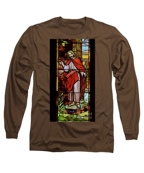 Long Sleeve T-Shirt featuring the photograph Jesus Knocking by Debby Pueschel