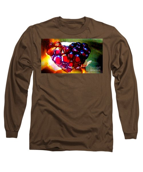 Long Sleeve T-Shirt featuring the painting Jeweled Heart In Light And Dark by Genevieve Esson