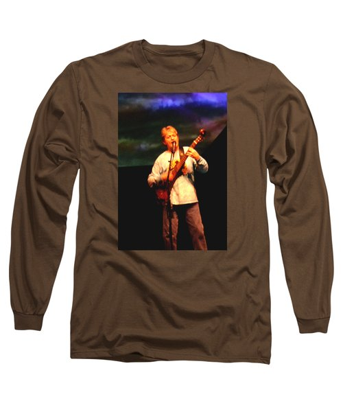 Jon Anderson Of Yes Long Sleeve T-Shirt by Melinda Saminski