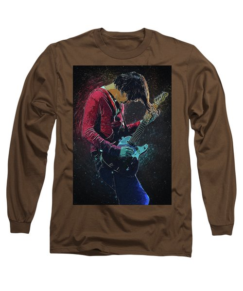 Jonny Greenwood Long Sleeve T-Shirt by Semih Yurdabak