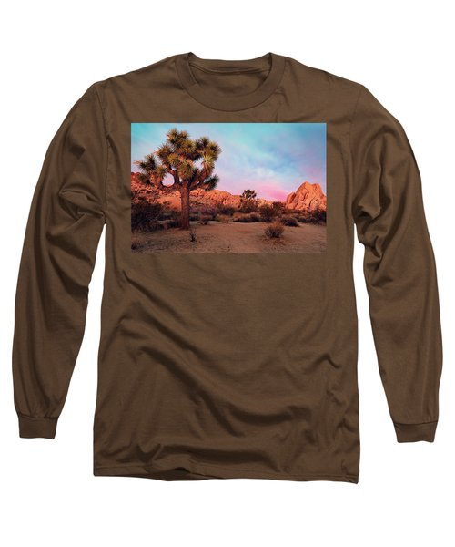 Joshua Tree With Dawn's Early Light Long Sleeve T-Shirt