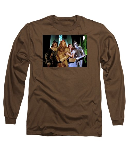 Judy Garland And Pals The Wizard Of Oz 1939-2016 Long Sleeve T-Shirt by David Lee Guss