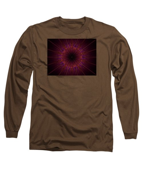 The Violet Blessings Of The Crown Chakra Long Sleeve T-Shirt by Ernst Dittmar
