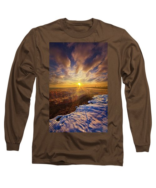 Long Sleeve T-Shirt featuring the photograph Just A Bit More To Go by Phil Koch