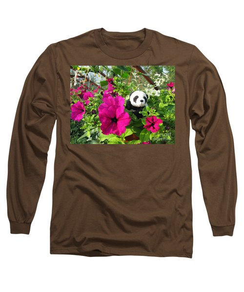 Long Sleeve T-Shirt featuring the photograph Just Hanging In There by Ausra Huntington nee Paulauskaite