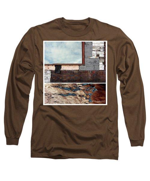 Juxtae #94 Long Sleeve T-Shirt by Joan Ladendorf