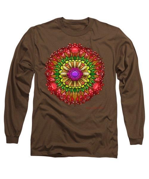 Kaleido Flower W Berry Long Sleeve T-Shirt