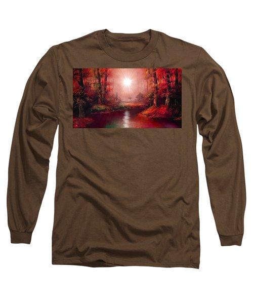 Kaleidoscope Forest Long Sleeve T-Shirt by Michael Rucker