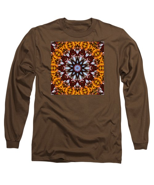 Kaleidoscope In Gold Long Sleeve T-Shirt by Marilyn Carlyle Greiner