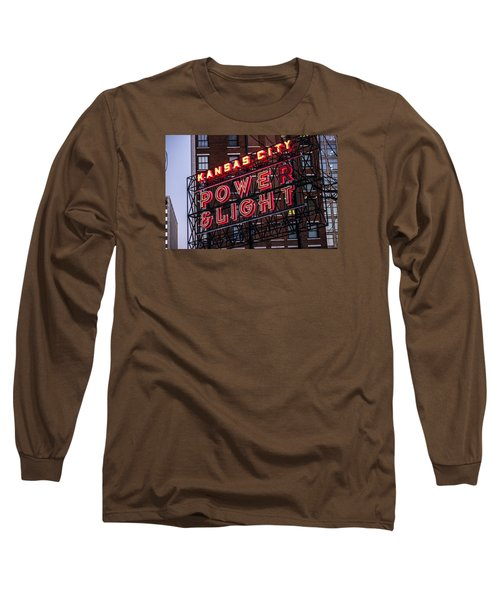Kc Power And Light Long Sleeve T-Shirt by Jim Mathis