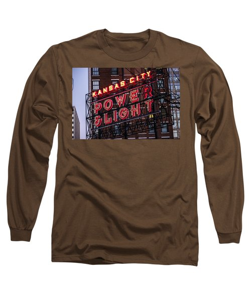 Long Sleeve T-Shirt featuring the photograph Kc Power And Light by Jim Mathis