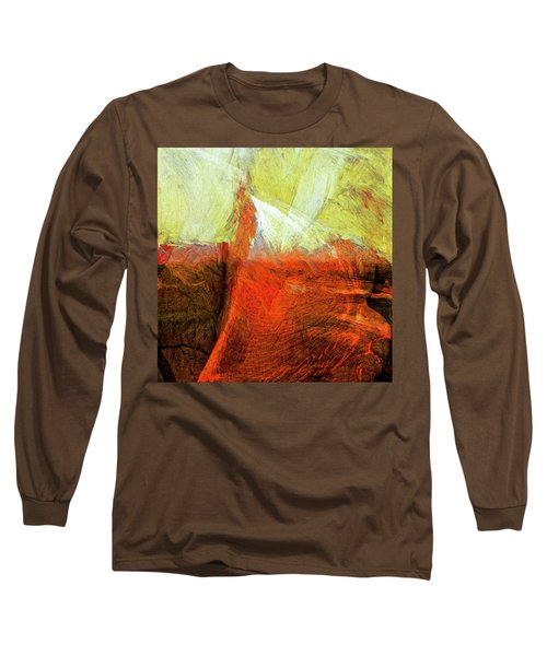 Long Sleeve T-Shirt featuring the painting Kilauea by Dominic Piperata