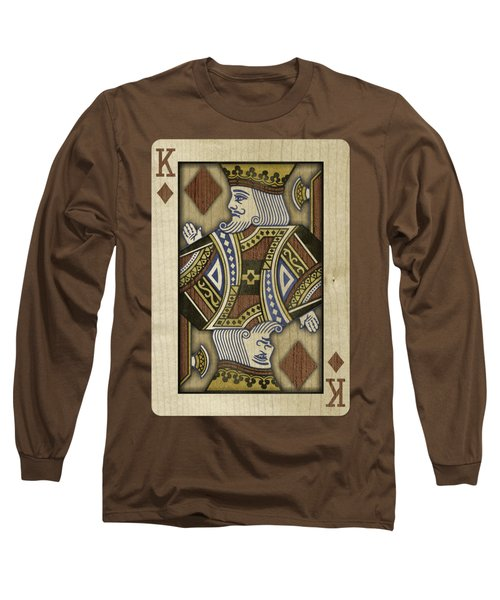 King Of Diamonds In Wood Long Sleeve T-Shirt