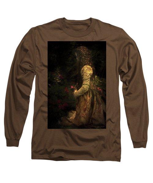 Kneeling In The Garden Long Sleeve T-Shirt