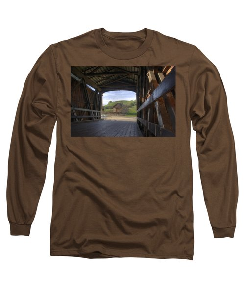 Knights Ferry Covered Bridge Long Sleeve T-Shirt