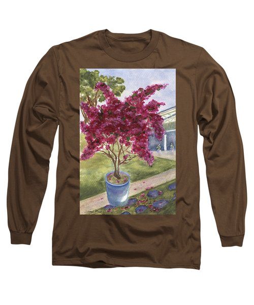 Long Sleeve T-Shirt featuring the painting Kona Bougainvillea by Jamie Frier