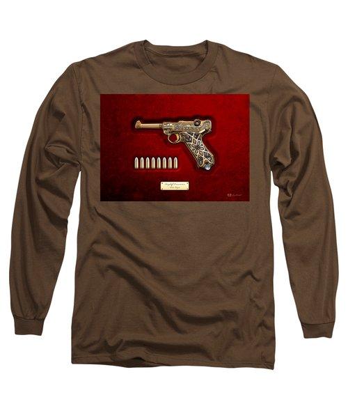 Krieghoff Presentation P.08 Luger  Long Sleeve T-Shirt by Serge Averbukh