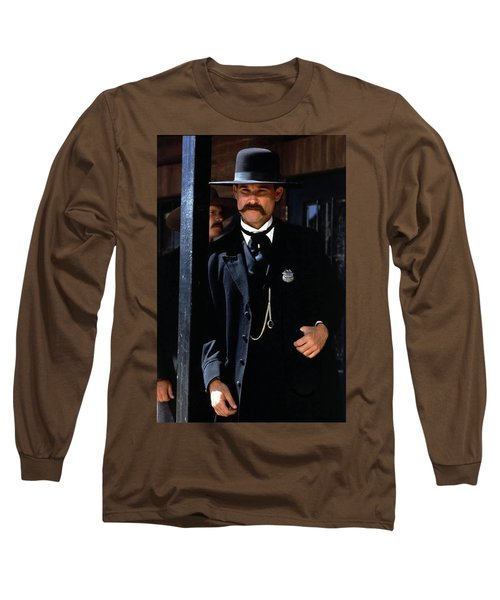 Kurt Russell As Wyatt Earp Tombstone Arizona 1993-2015 Long Sleeve T-Shirt