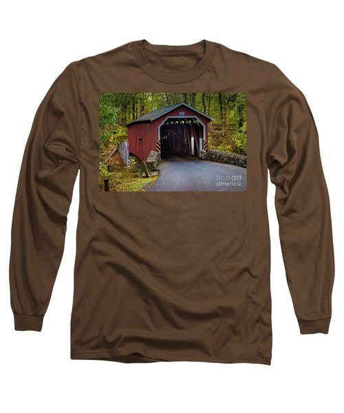 Kurtz Mill Covered Bridge Long Sleeve T-Shirt