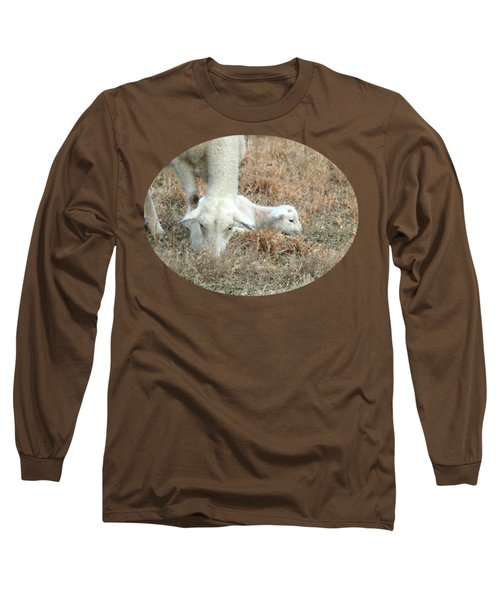 L Is For Lamb Long Sleeve T-Shirt by Anita Faye