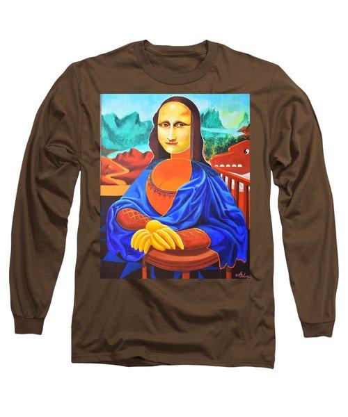 La Joconde Sur La Table Au Bol Vide Long Sleeve T-Shirt