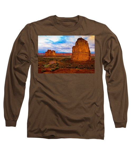 Long Sleeve T-Shirt featuring the photograph La Sal Daylight by Harry Spitz