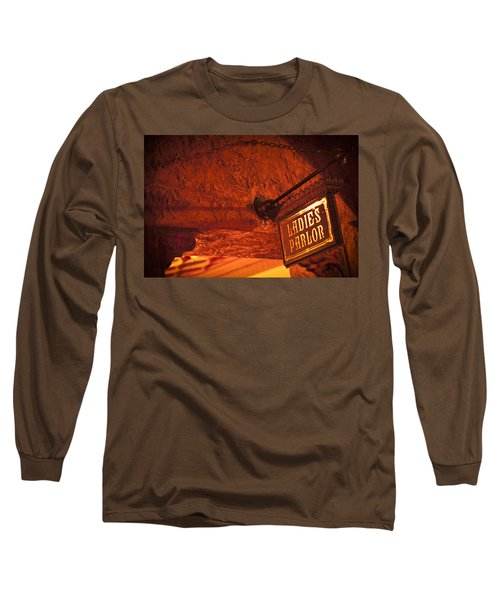 Long Sleeve T-Shirt featuring the photograph Ladies Parlor Sign by Carolyn Marshall
