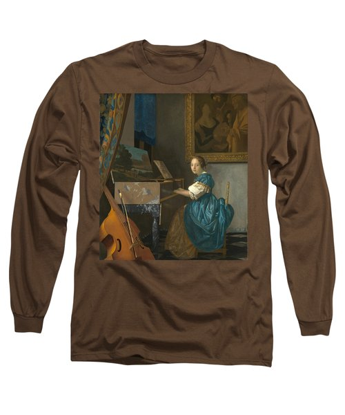 Lady Seated At A Virginal Long Sleeve T-Shirt