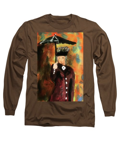 Lady With Umbrella Long Sleeve T-Shirt