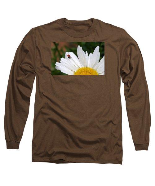 Ladybug On Flower Long Sleeve T-Shirt